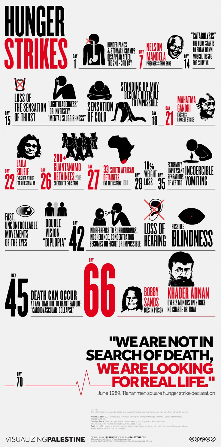 Hunger Strikes Infographic designed by @najielmir