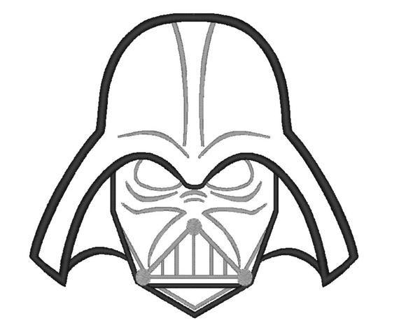 Darth Vader Face Applique Embroiery Machine Etsy In 2020 Star Wars Drawings Darth Vader Mask Darth Vader Drawing