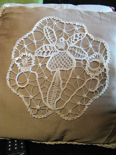 Orchid in Romanian Point Lace