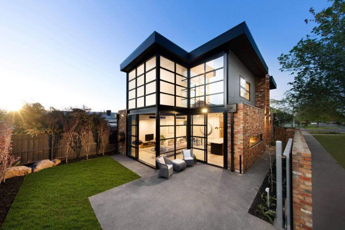 Aspect 11 designs a home with a completely different style experience than its neighbours in Melbourne, Australia - CAANdesign | Architecture and home design blog