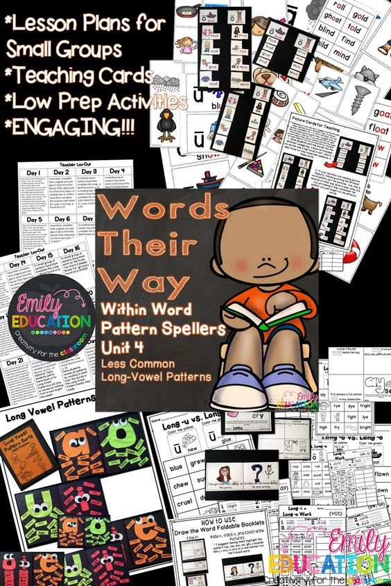 Words Their Way Within Word Pattern Spellers Unit 4: Less Common Long-Vowel Patterns. Small group activities to keep your students engaged in Words Their Way!