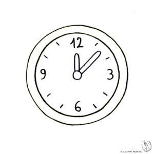 Disegno di orologio a parete da colorare disegni da for Disegni di lupi da stampare