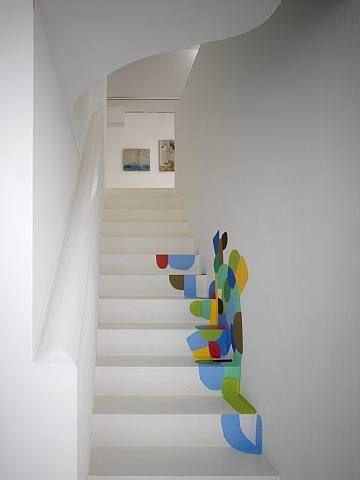 Installationview Sies Höke Galerie, Düsseldorf by Federico Herrero on artnet Deco Cool, Interior And Exterior, Interior Design, Interior Stairs, Painted Stairs, Painted Staircases, Stairways, Decoration, Home Projects