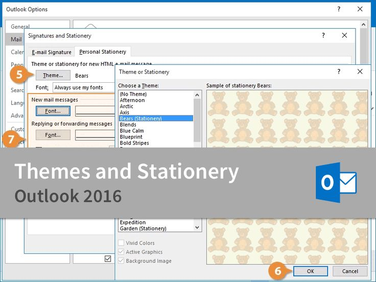 Microsoft Outlook 2016 CustomGuide Themes and Stationery