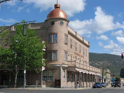 Downtown Merritt BC historic Coldwater Hotel