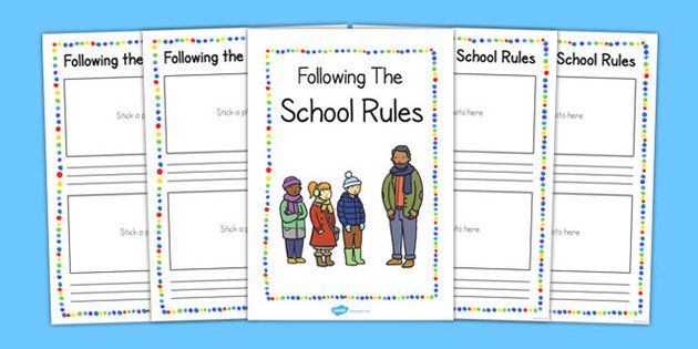 Following the School Rules Booklet