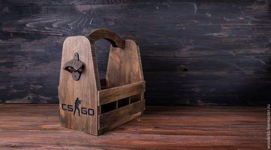 Подарочное оформление бутылок ручной работы. Заказать Деревянный ящик для пивных бутылок. Good Wood. Ярмарка Мастеров. Ящик для бутылок
