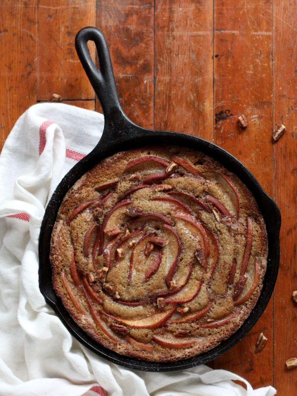 Pear Cinnamon-Sugar Skillet Cake | Recipe | Warm, Lakes ...