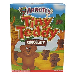 Arnotts Tiny Teddy chocolate biscuits