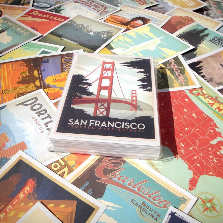 For when I travel the world and send postcards... the Anderson Design Postcard Set!