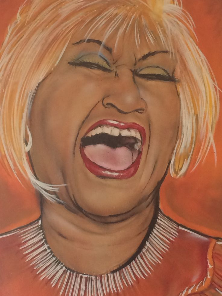 Celia Cruz painting in little Havana