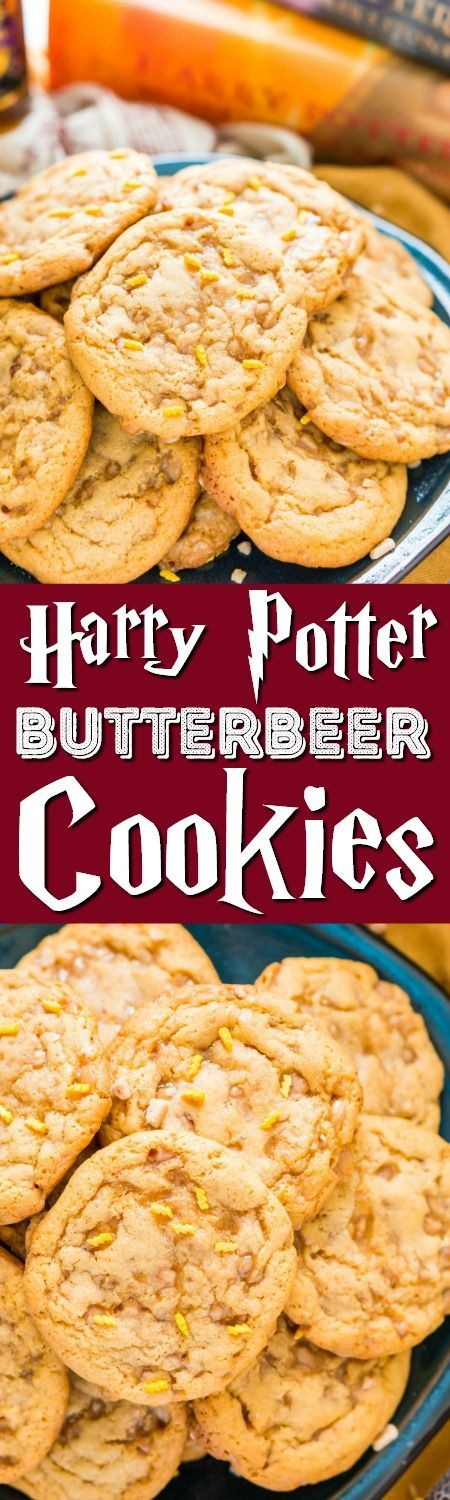 These Harry Potter inspired Butterbeer Pudding Cookies are a sweet old-fashioned blend of vanilla and butterscotch loaded up with toffee bits. Baked to perfection with a soft chewy center and lightly crisp edges, they won't last long! via @sugarandsoulco