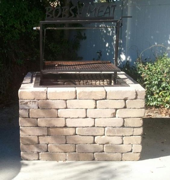 Wood-Fired Santa Maria Style Drop-In Frame Grill - JD Fabrications BBQ Grill Pits