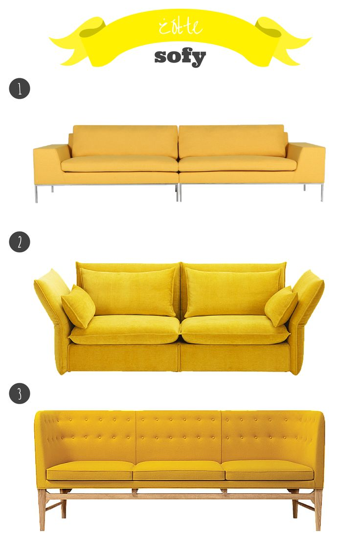 żółta sofa // yellow sofa