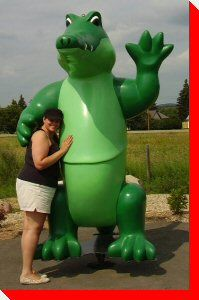 Alix the gator in Alix, Alberta