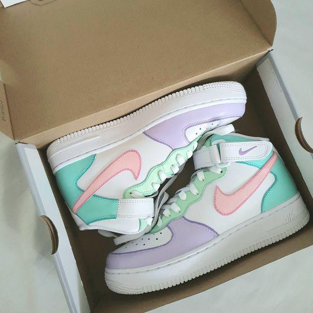 Nike Air Force Mid ' Icecream ' by sneakuniq | Nike air shoes ...