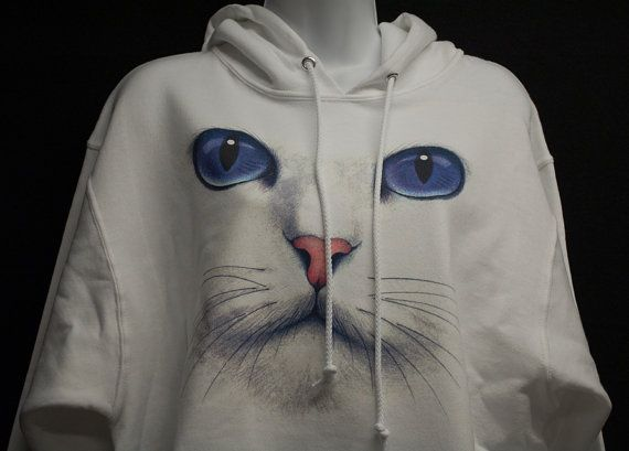Cat hoodie. Cat lover. Comfortable pull over Hoodie by PassTheWord, $27.50