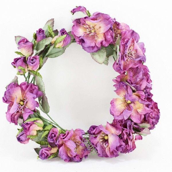 Purple paper flower Wreath- * IMPORTANT: Please note these gift bouque – Paper Flowers Australia