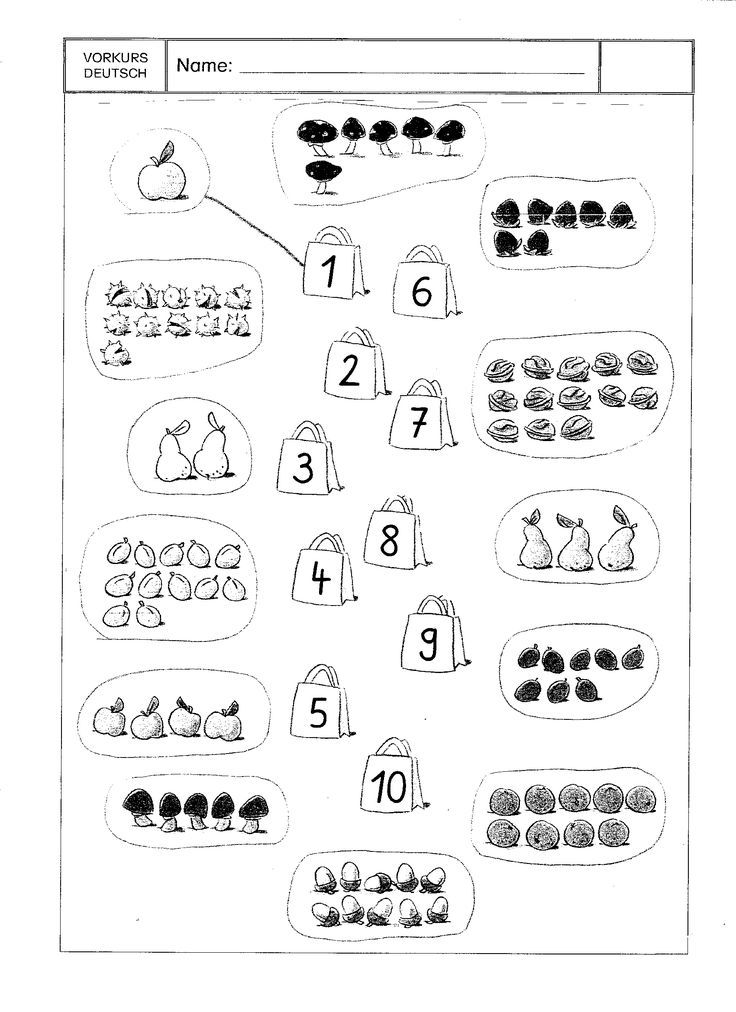 werkblad vruchten tellen en verbinden