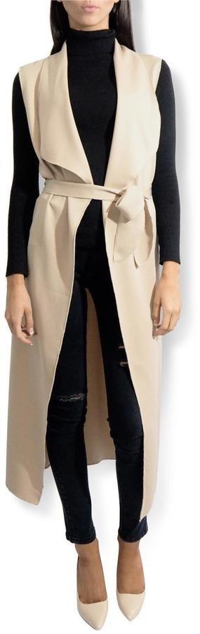 frontrow Sleeveless Duster Coat