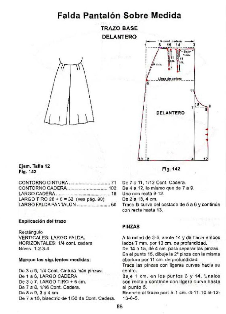 36 best Costura y Moldes 05 Pantalones images on Pinterest | Sewing ...
