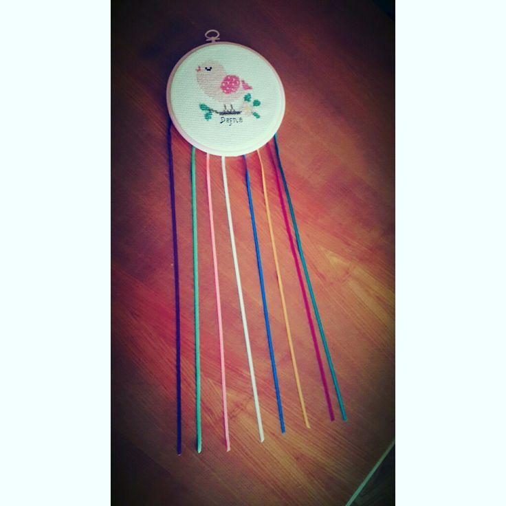kanaviçe etamin cross stitch a birthday gift for babygirl