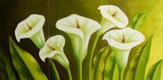 Resultado de imagem para pinturas al oleo de flores abstractas