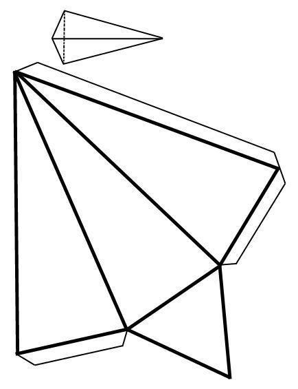Como fazer uma pirâmide com base triangular - 6 passos
