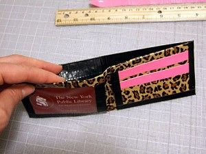 Duct tape wallets. I wonder if the girls and I could manage to make one for Father's Day?