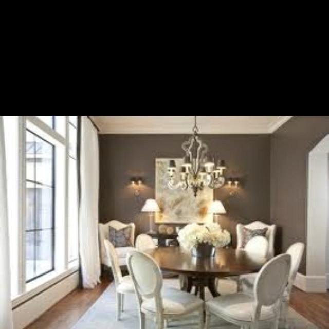 Chairs In Corners Gray Dining Room From Dodson And Daughter Interior Design