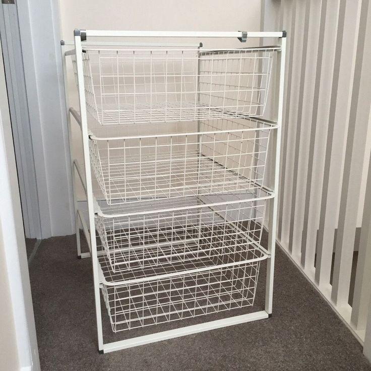 Wire Basket Storage Drawers