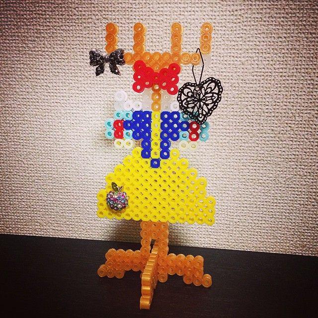 Inspired Snow White accessoires holder perler beads by ringo_0122