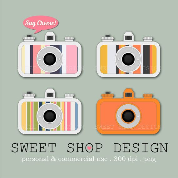 La Sardina Camera Clip Art, Photography Clip Art, Royalty Free Clip Art, N03, Instant Download by SweetShopDesign, $4.95