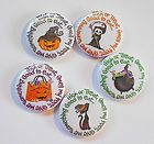 Trick or Treat Halloween Flatback Pin Back Buttons 1 for Bows Embellishments  - Halloween Flatback Pins