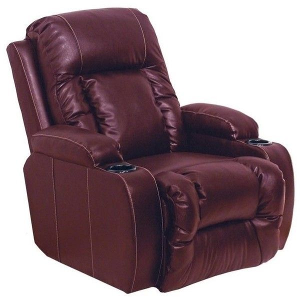 Catnapper Top Gun Leather Power Theater Recliner ($677) ❤ liked on Polyvore featuring home, furniture, chairs, recliners, burgundy, home theatre chairs, home storage furniture, leather movie chairs, home movie theater chairs and power recliner chairs