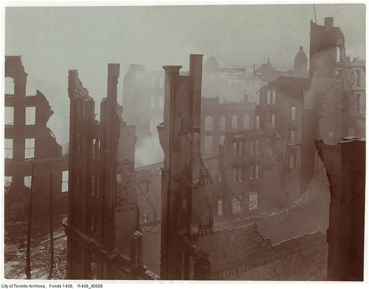 The Great Toronto Fire of 1904 destroyed a massive parcel of downtown Toronto, with damage estimated around $10 million (that's in 1904 dollars!). Remarkably, no casualties were reported as a direct result of the conflagration (One labourer, John Croft, was killed during the post-disaster demolition work). Check out this gallery of amazing photos —and video!—from the conflagration that swept through our fair city...