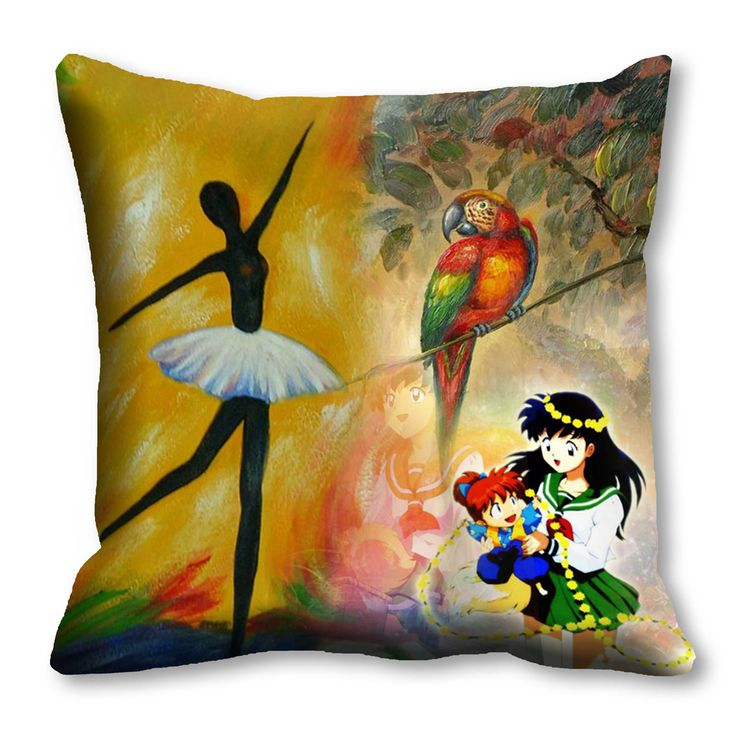 Painted Parrot Girl Cushion cover (16x16)  #cushions #cushioncovers #pinit #pinterset #shazliving #interior #homedecor Shop at: https://www.shazliving.com/