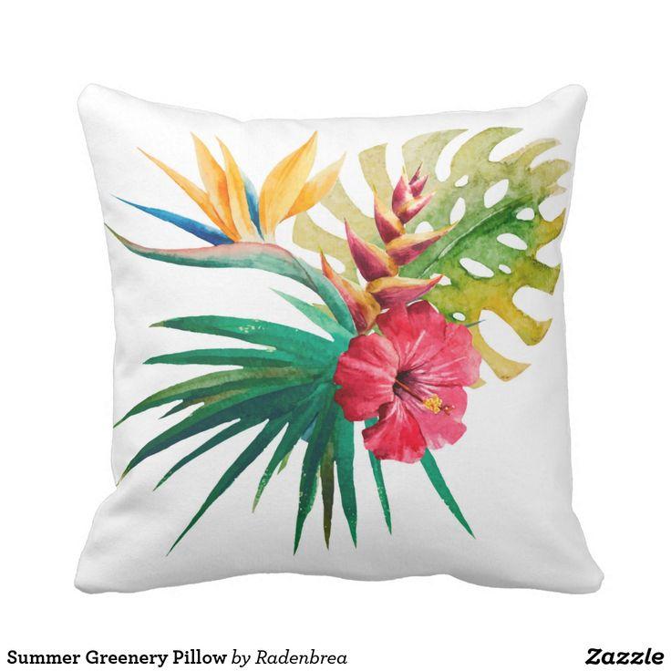 Summer Greenery Pillow #homedecor #cushion