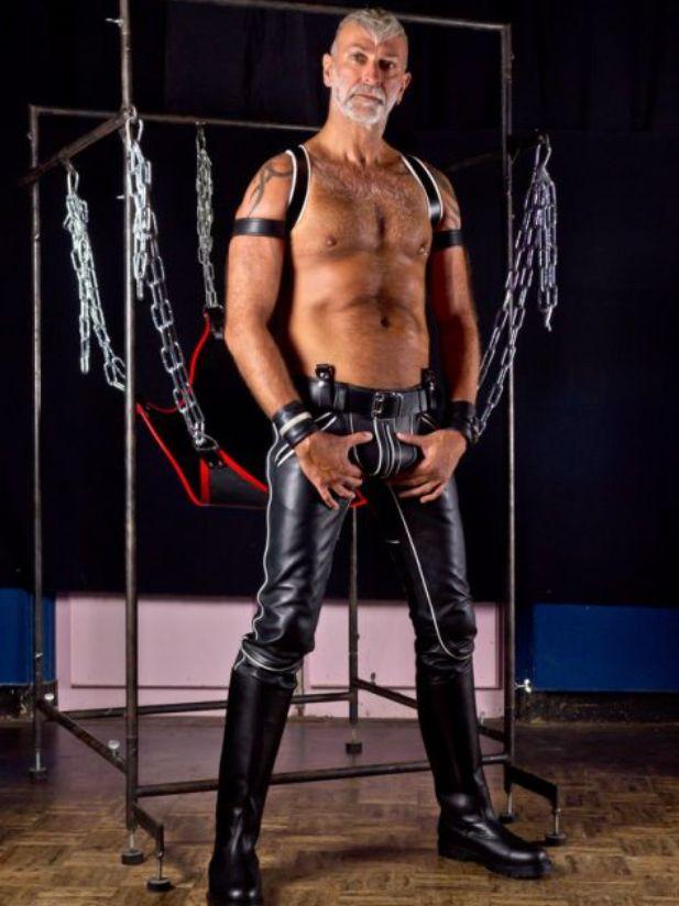 Leather boy porn