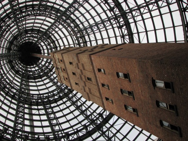 The lead pipe and shot tower, Melbourne, Australia