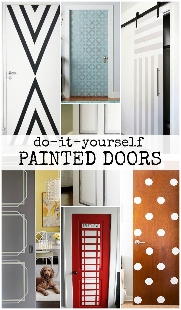 bedroom door painting ideas. DIY Painted Door Ideas @Remodelaholic Bedroom Painting E