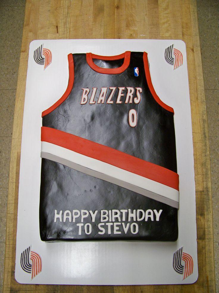 Blazers Jersey Cake Yes It S Cake Pinterest