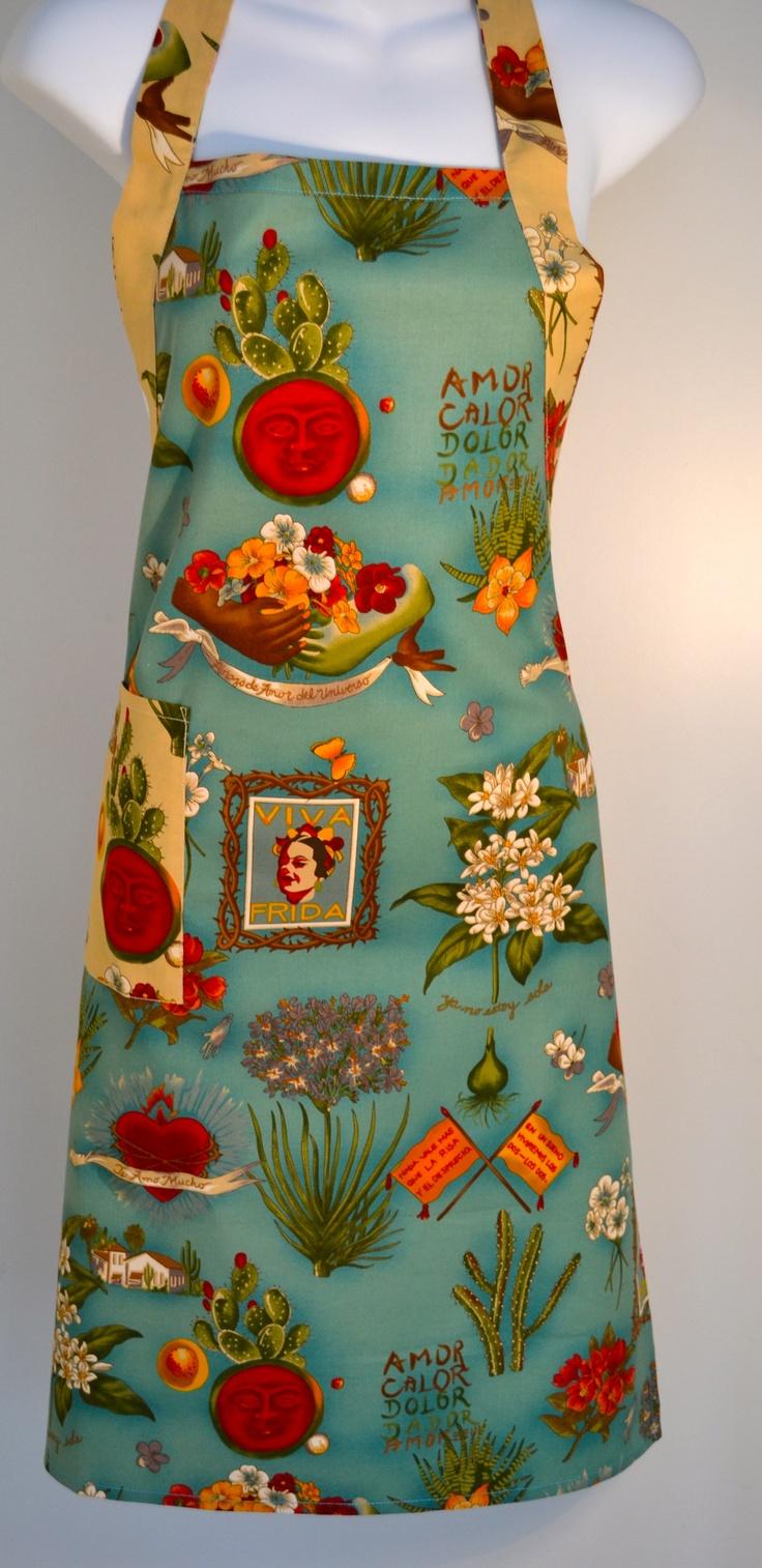 White half apron australia - Viva Frida Kahlo Apron Teal