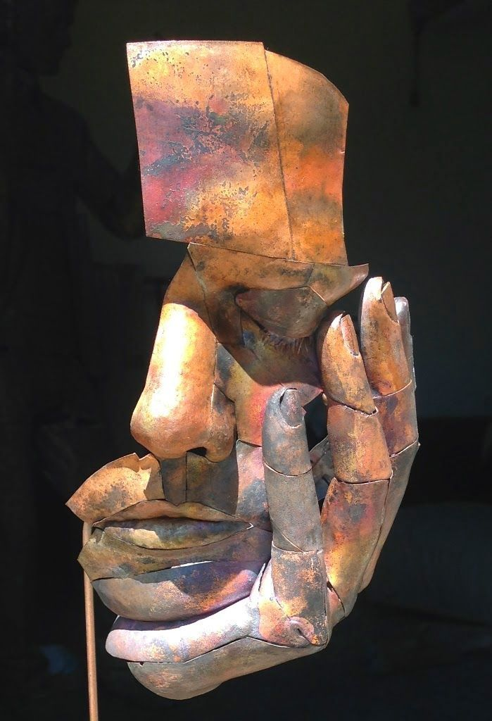 by Matteo Baroni___Untitled, iron and copper by Italian sculptor Matteo Baroni