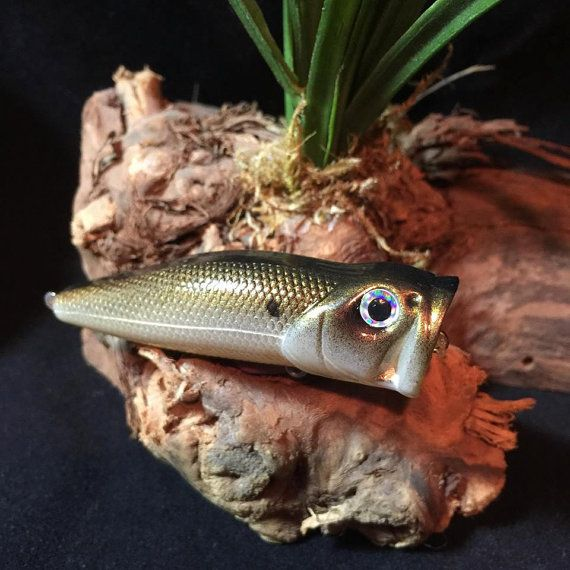 Shb popper hand painted bass fishing crankbait by for Fishing poppers for bass