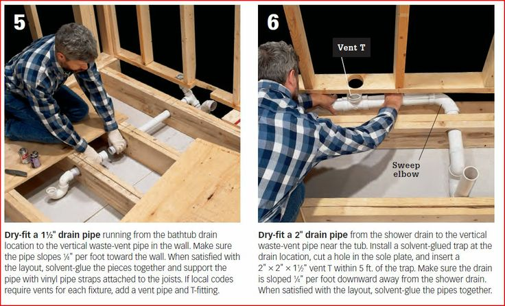 how to move shower plumbing