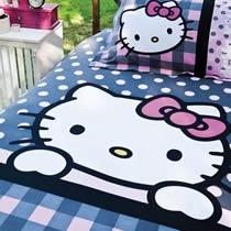 Evdenemoda.Com - SAB EV TEKSTİLİ - Hello Kitty Style Tek Kişilik Nevresim Takımı 12-24 Yaş ( Pembe )