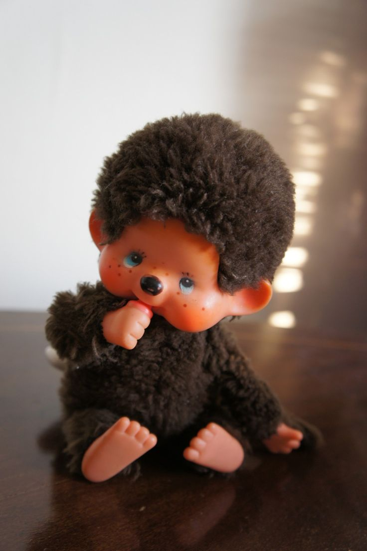 Monchichi Monchichi your so soft and cuddly! (this was my favorite toy as a kid- until his hair came off)