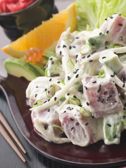 avocado tuna and avocado salsa tuna tartare with avocado and radish ...