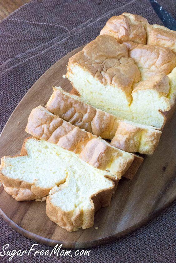Low Carb Cloud Bread Loaf or rolls- gluten free, grain free, keto- sugarfreemom.com